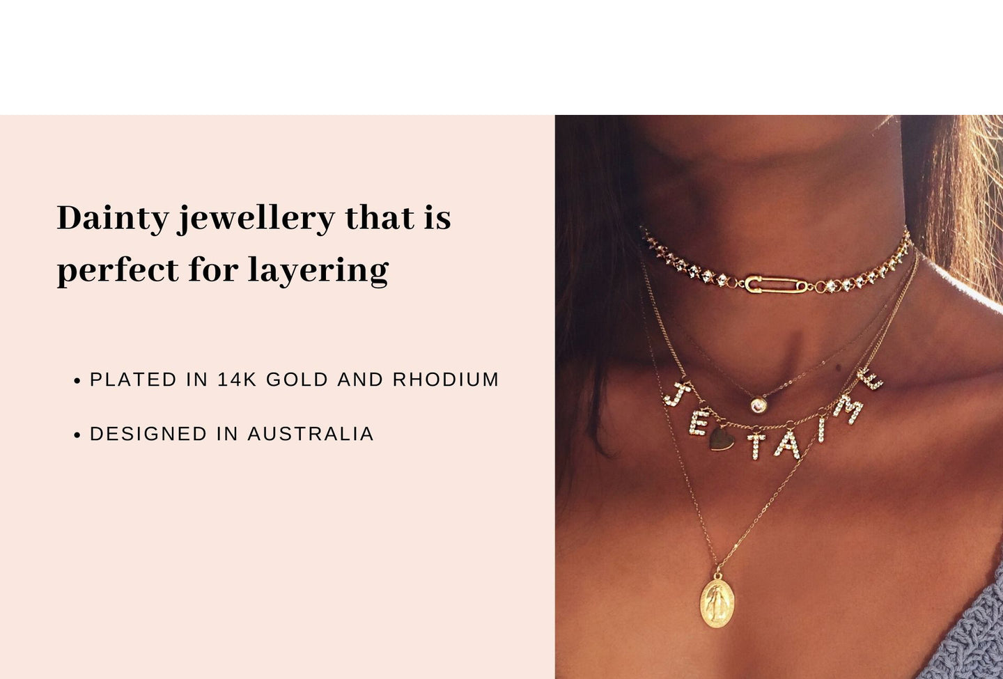 Australia layered fashion jewellery