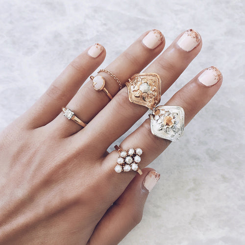 stacking rings gold silver womens jewelry
