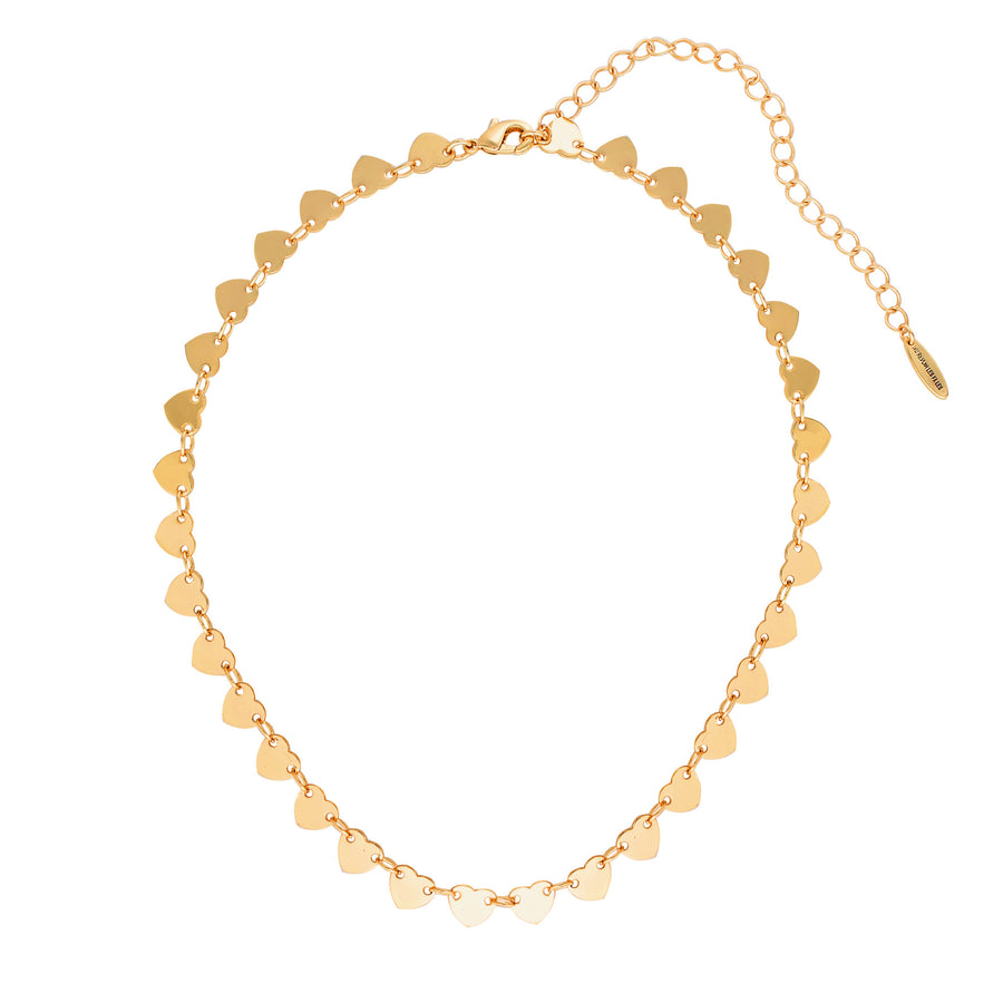 heart choker gold dainty necklace