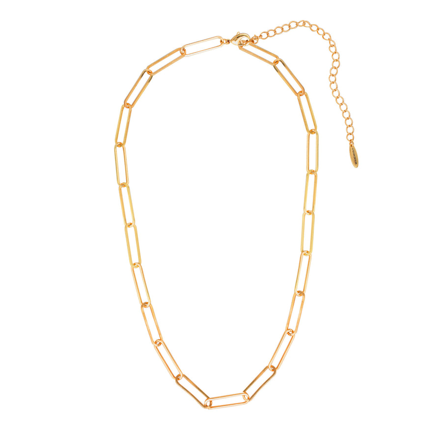 Link necklace in gold. Australian layered jewellery