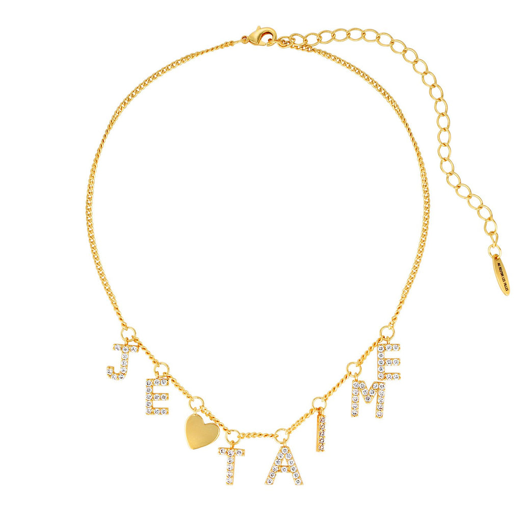 Je t'aime necklace gold diamond