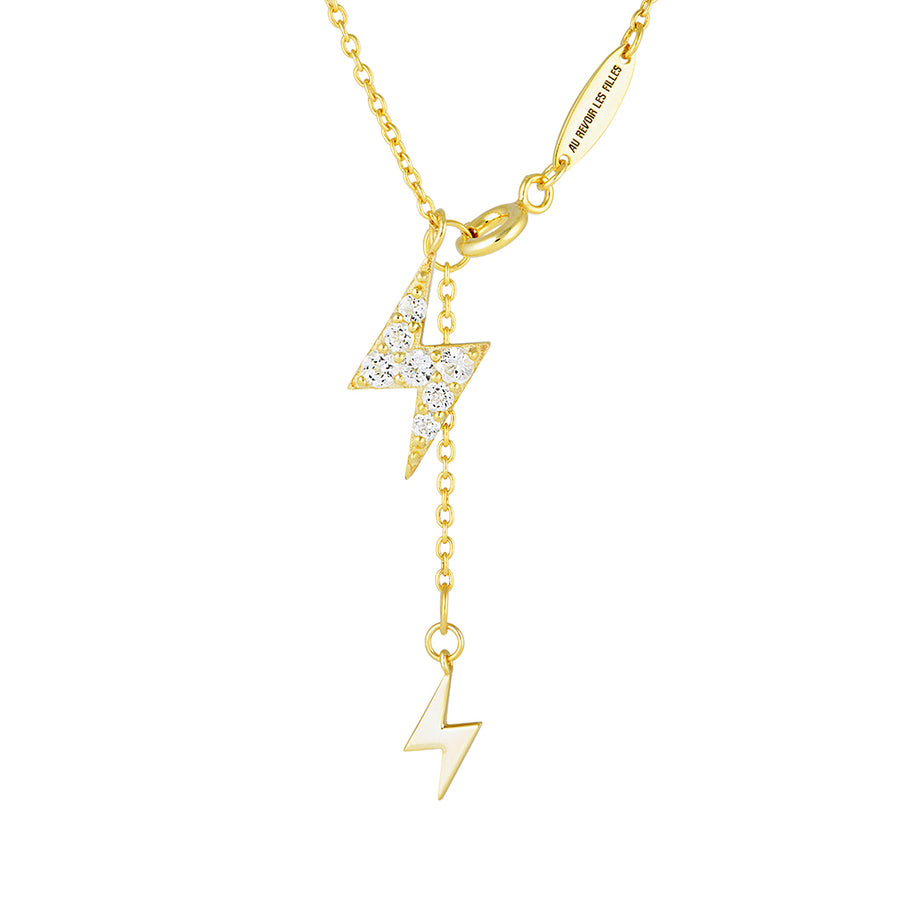 lariat necklace gold lightning jewellery design diamond pendant pave womens fine necklaces