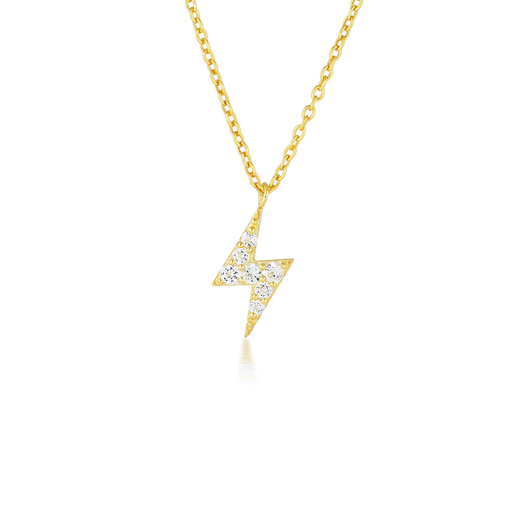 Lightning bolt diamond gold necklace womens affordable fine lightning bolt diamond pendant gold necklace womens fine jewellery lariat necklace aloadofball Images