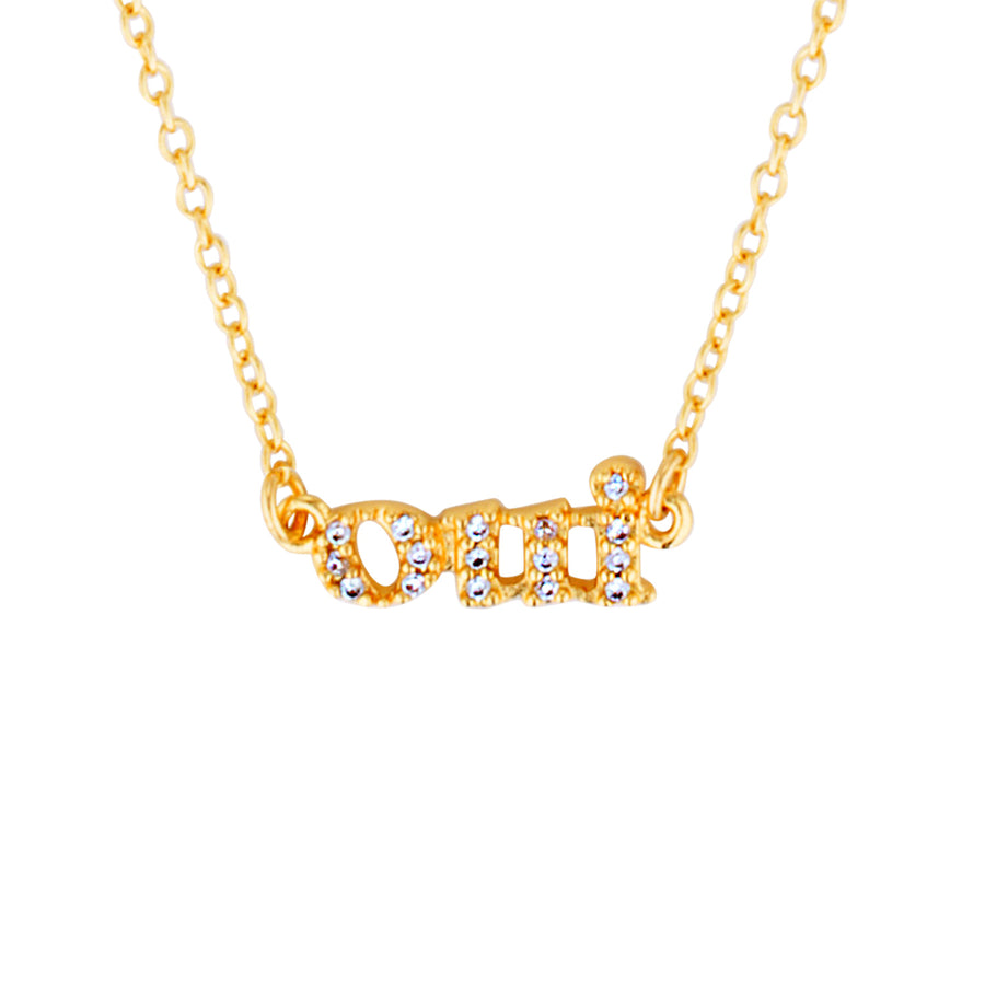 oui necklace gold diamond