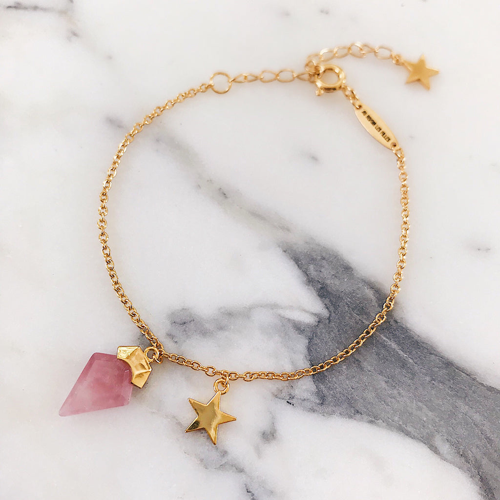 rose quartz bracelet star bangle gold fine womens jewellery australian jewellery designer fashion jewellery online australia top 10 jewellery brands