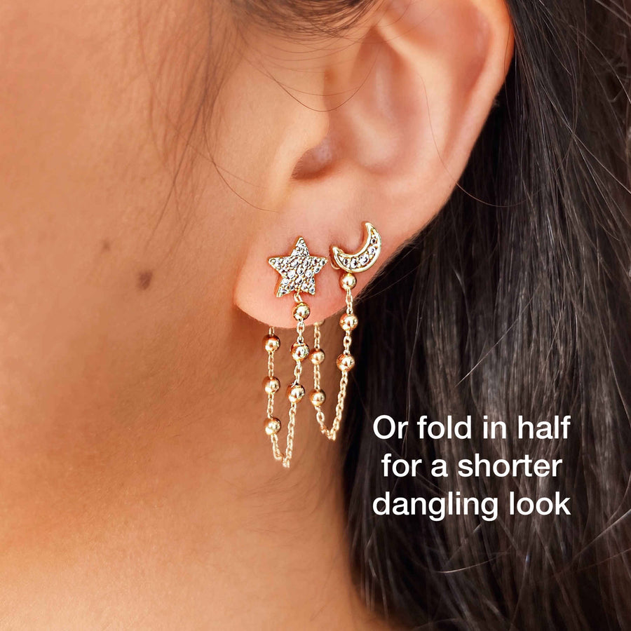 Earring back tassel Australian jewellery brand for stacking earrings