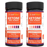 Ketone Test Strips (2 Bottles). 125 strips per bottle (100 + 25 free). Testing Levels of Ketones Suitable for Diabetics, Low Carb, & Fat Burning Dieters.