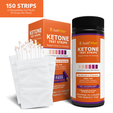 Ketone Keto Urine Test Strips. Now 150 Strips in 3 Resealable Foil Packs. Lose Weight, Look & Feel Fabulous on a Low Carb Ketogenic or HCG Diet. Get Your Body Back! Accurately Measure Your Fat Burning