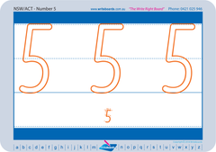 School Readiness Kit number worksheets. NSW Foundation Font school readiness handwriting worksheets.
