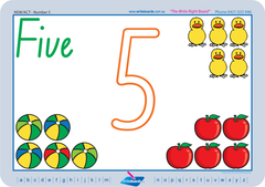NSW Foundation Font Special Needs Number Worksheets and Handwriting Kit.