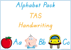 Teach your child the alphabet using TAS handwriting