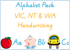 Teach your child the alphabet using VIC, NT & WA Handwriting