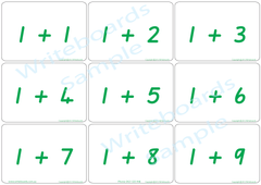 School Readiness QLD Modern Cursive Font arithmetic bingo game, School Readiness for QLD