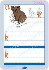 Australian Animals Worksheets completed using TAS Beginner Font . TAS alphabet tracing worksheets.