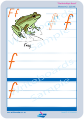 TAS Modern Cursive Font Australian Animal Pack the letter f