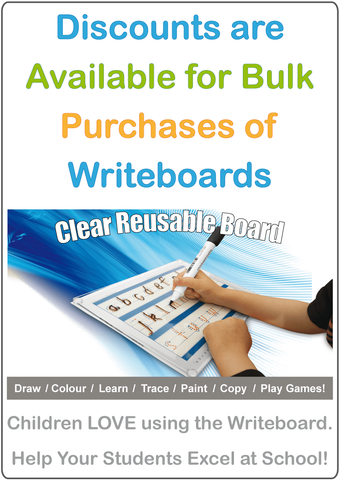 Discounts available for bulk purchases of Writeboards.