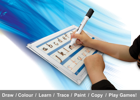 Writeboards clear reusable writing board. Learn to form the Australian alphabet and numbers.