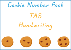 Teach your child the numbers using cookies and TAS handwriting