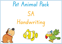 Teach your child about pet animals using SA handwriting