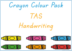 teach your colours using crayons and TAS handwriting