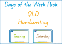 teach your child days of the week in QLD handwriting