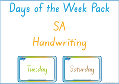 Teach your child the days of the week using SA handwriting