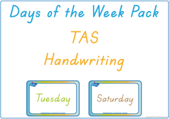 Teach your child the days of the week using TAS handwriting