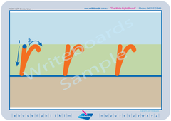 NSW Foundation Font Special Needs Divided Line Alphabet Worksheet and Handwriting Kit.