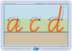 VIC Modern Cursive Font Special Needs Divided Line Alphabet Worksheet and Handwriting Kit.