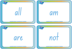 School Starter Kit - Dolch Flashcards. Beginning words for starting school in NSW and ACT.