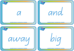 School Readiness Kit QLD Modern Cursive Font Dolch word flashcards, School readiness for QLD