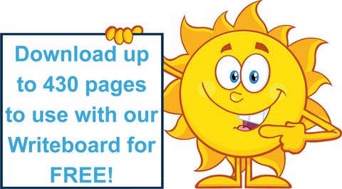 Free TAS Beginner Font Handwriting Worksheets with the purchase of a Writeboard Kit.