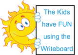 Child Love using Writeboards clear reusable writing board