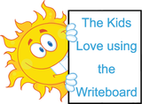 The kids LOVE using Writeboards clear reusable boards, a great teaching resource