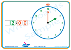 Learn to Tell the Time Worksheets are included in NSW Foundation Font Special Needs Handwriting Kit.