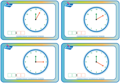 Learn to tell the time- Stage 2 Flashcards