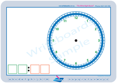 Learn to tell the time- Stage 2 clock with digital display.