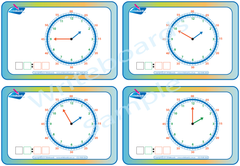 Learn to tell the time- Stage 3 Flashcards