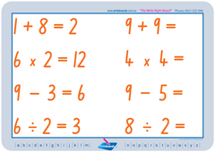 Our Advanced school kit includes TAS Modern Cursive Font Maths worksheets for free
