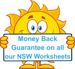 All our NSW Foundation Font Handwriting worksheets come with a Money Back Guarantee.