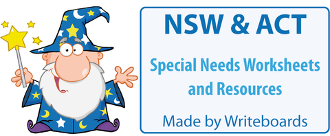 Special Needs Handwriting Worksheets for NSW Foundation Font, Special Needs Resources for NSW Foundation Font