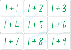 School Starter Kit for NSW Foundation Font. Arithmetic Bingo Game Flashcards.