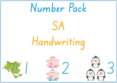 Teach your child about numbers using SA handwriting