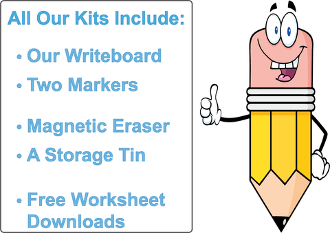 Free Worksheets for Your Child are included in All of Our Writeboard Kits.