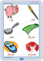 QLD Beginners Font Consonant Phonemes Posters