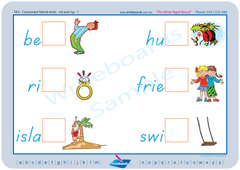 Advanced School Kit includes TAS Modern Cursive Font Phonic consonant blends