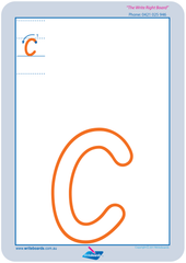 SA Modern Cursive Font Lowercase Alphabet Worksheets for Childcare and Preschool