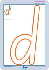 SA Special Needs Handwriting Lower Case Alphabet Worksheets and Handwriting Kit for SA Modern Cursive Font.