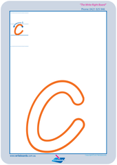 TAS Modern Cursive Font Lowercase Alphabet Worksheets for Childcare and Kindergarten