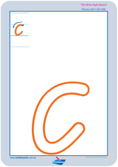 VIC Modern Cursive Font numeracy and literacy handwriting worksheets. Large letters and numbers.